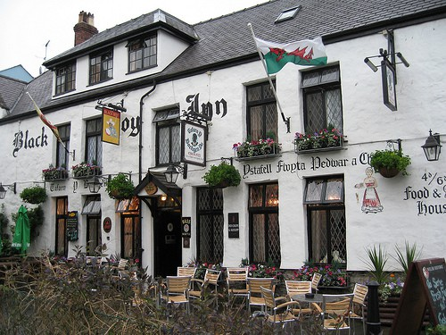 Ancient inn in Caernarfon, North Wales