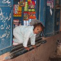Elephantine shop girl
