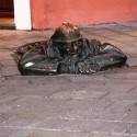 Street sculptures in Bratislava, Slovakia