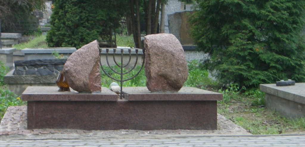 A small section of Warsaw's Jewish cemetery is still in use today