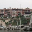 The Old Cataract Hotel in Aswan, featured in the film based on Agatha Christie's Death on the Nile.