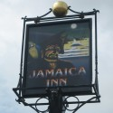 Sign at Jamaica Inn, Bodmin Moor, Cornwall