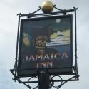 Sign at Jamaica Inn, Bodmin Moor, Cornwall