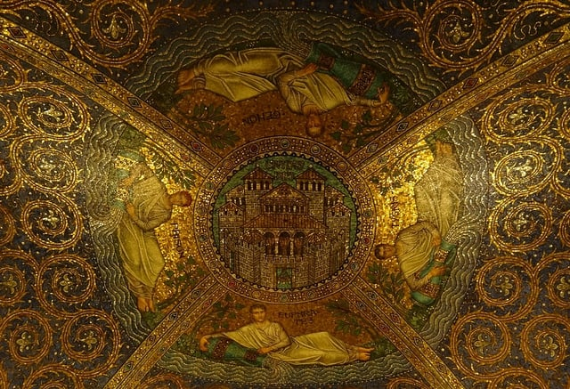 Aachen Cathedral, ceiling