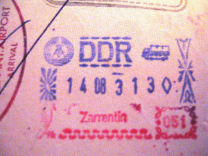 Start here - passport stamp from East Germany, DDR