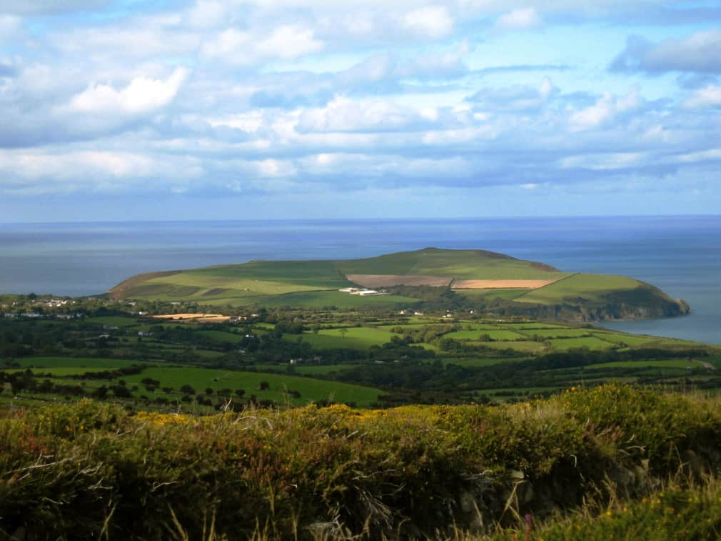 View of Dinas head, Pembrokeshire, Wales