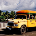 Colourful bus in Apia, Samoa