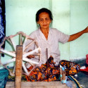 Woman weaving, Lombok