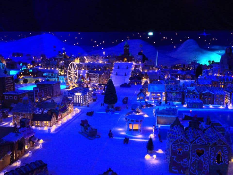 Gingerbread town Bergen Norway, Christmas 2016