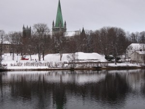Nidarosdomen Cathedral, Trondheim - in winter