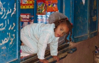Elephantine Island, Nile, Egypt, shop-girl