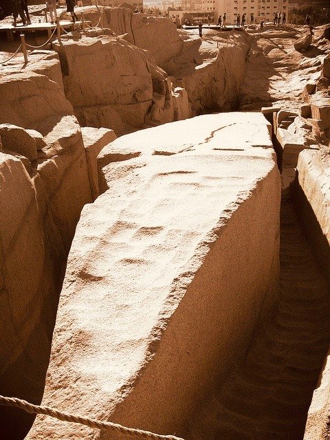 Aswan highlights: the unfinished obelisk in the quarry