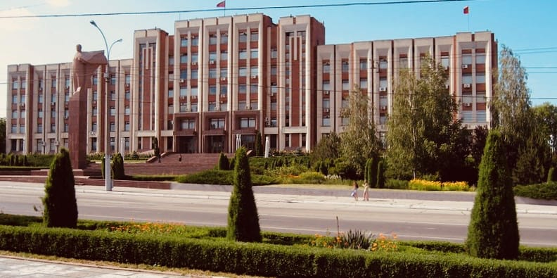Dom Soviet (Parliament) and Lenin, Tiraspol, Transnistria