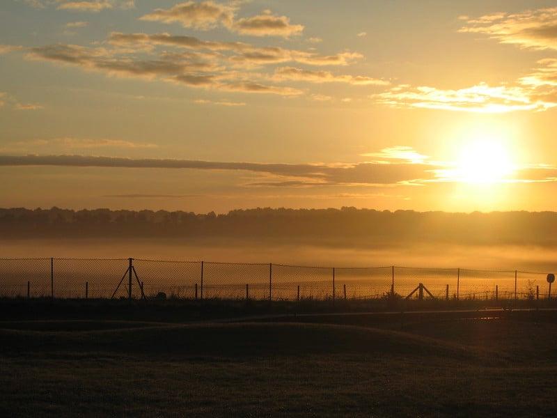 Sunrise over Salisbury Plain