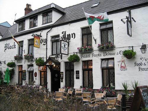 Ancient inn in Caernarfon, North Wales