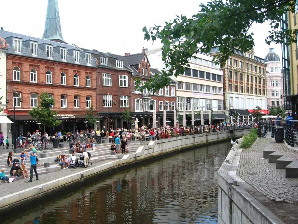 Aalborg and Aarhus