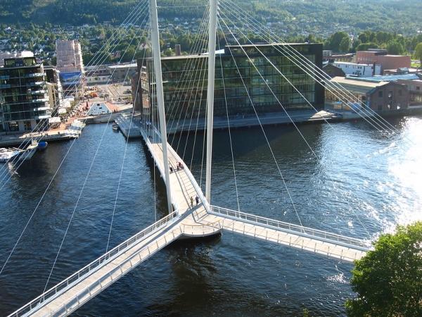 Drammen, Norway - Ypsilon bridge