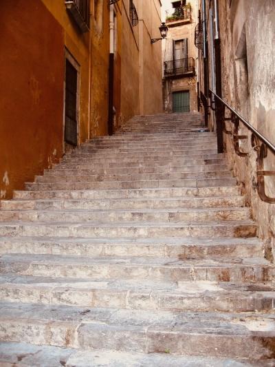 Barri Vell stairs, Girona, Costa Brava