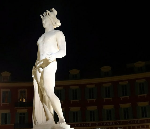Apollon, Fontaine du Soleil, Place Massena, Nice