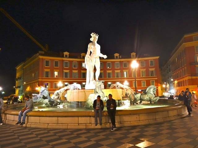 Fontaine du Soleil, Place Massena, Nice