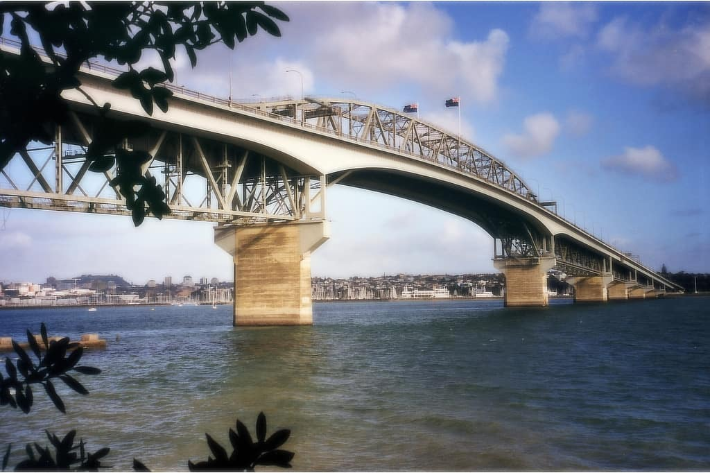 Auckland Harbour Bridge, seen from Northcote Point