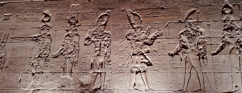 Aswan, Egypt, Philae temple, Nile, relief