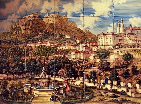 Sintra, Portugal - landscape on tiles