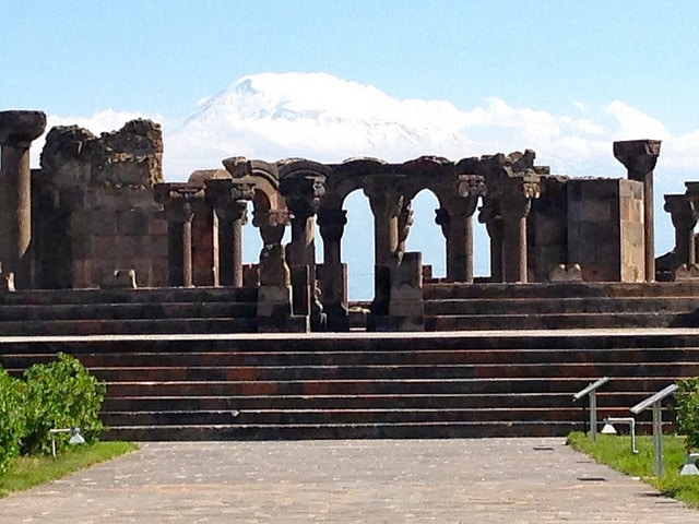 Zvartnots Cathedral ruins, Yerevan, Armenia
