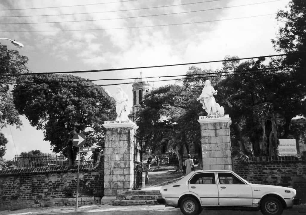 Going to church, St John's in Antigua