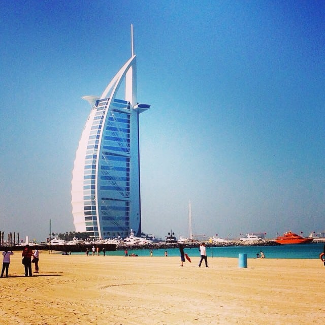 Burj al-Arab seen from the beach