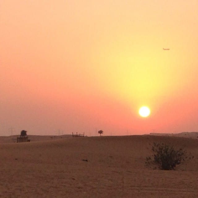 Sunset in the desert, UAE