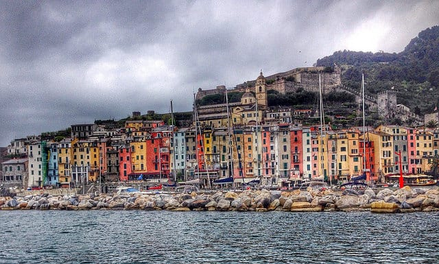 Portovenere seen from the water