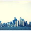 Toronto skyline framed