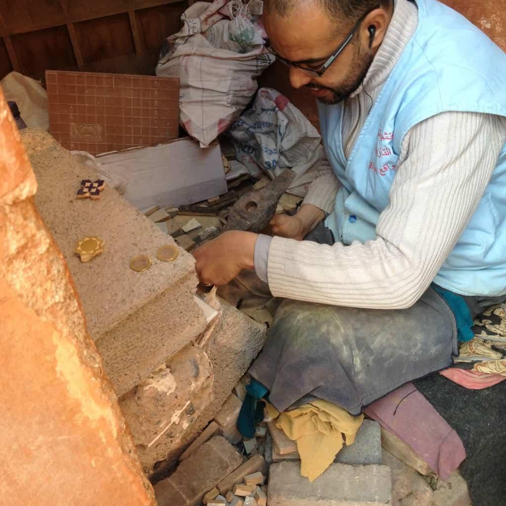 Name Chisling at Saadian Tombs