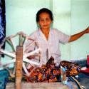 Woman weaving, Lombok