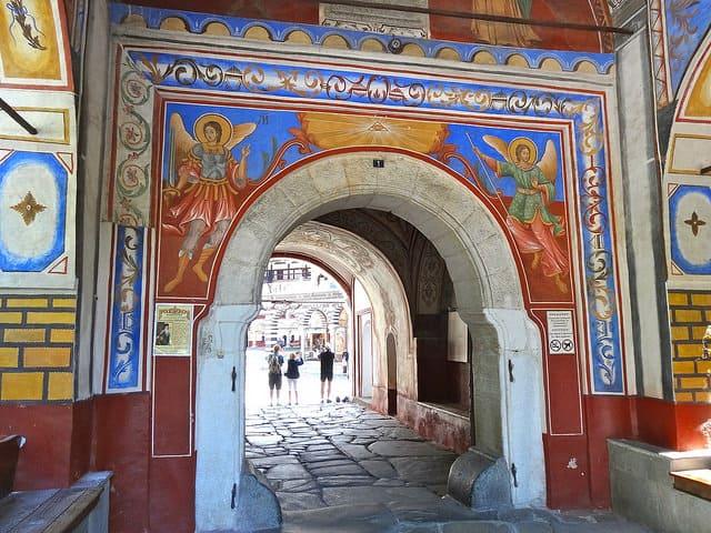 Rila Monastery Bulgaria - entrance portal