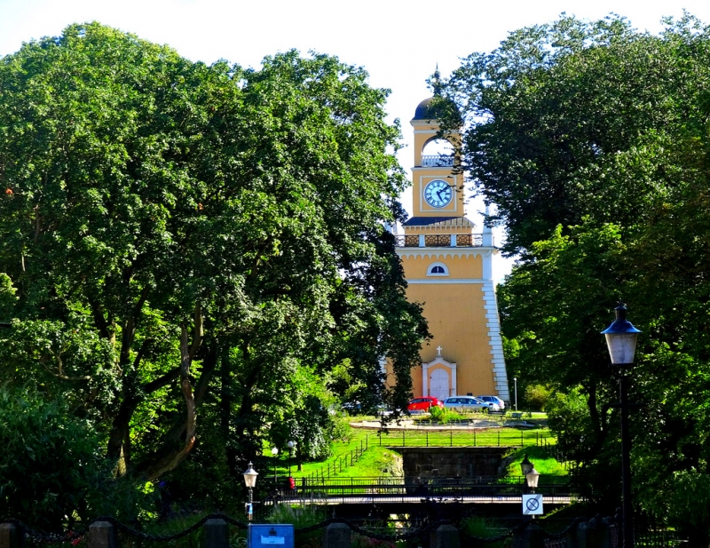 UNESCO Sweden Port of Karlskrona - Amiralstårnet (Admiral's Tower), clock tower