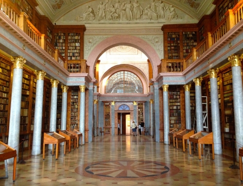 World at a Glance: The beautiful library at Pannonhalma Abbey