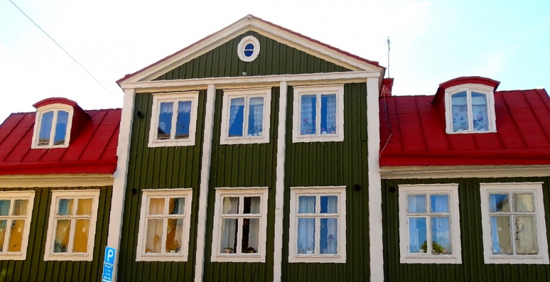 UNESCO Sweden Port of Karlskrona - colourful old wooden houses